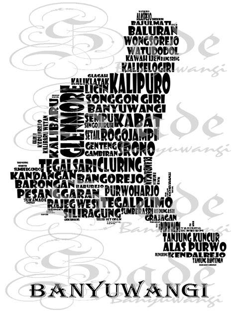 sade kaos banyuwangi desain wmb1503001 words map of banyuwangi