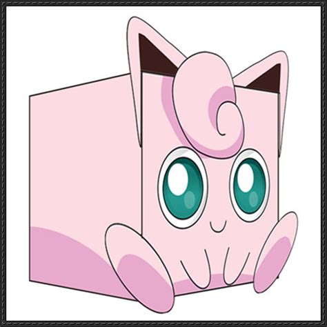 Jigglypuff Origami - new paper craft jigglypuff cube craft free