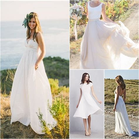 casual wedding dress simple wedding dress backyard