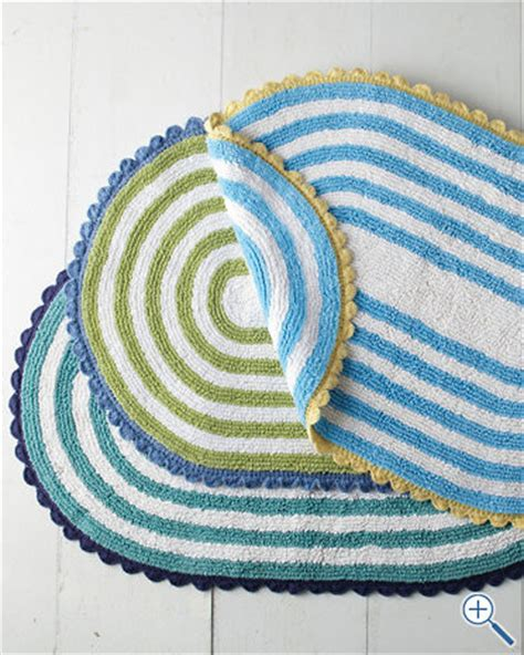 Striped Bath Rug Tybee Stripe Cotton Bath Rug Bath Mats By Garnet Hill