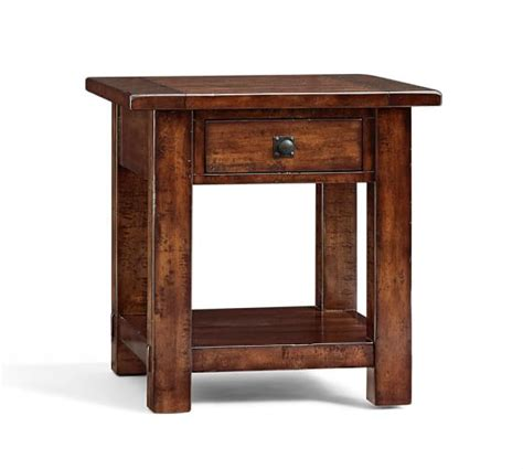 benchwright square side table pottery barn
