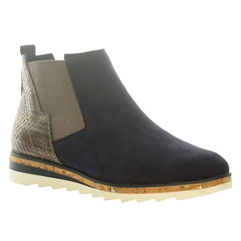 marco tozzi womens ankle boot 25401 navy