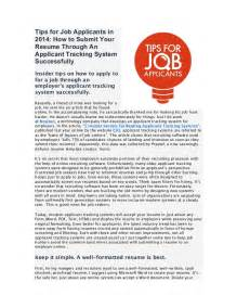 tips for applicants in 2014 how to submit your resume