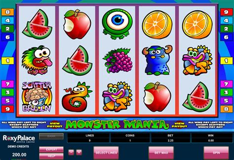 monster mania  slot  pay lines microgaming