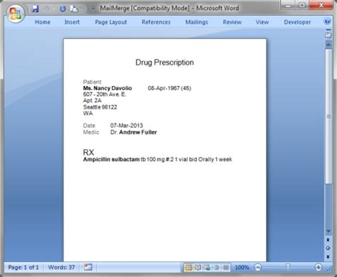 List Of Synonyms And Antonyms Of The Word Prescription Template Prescription Template Microsoft Word