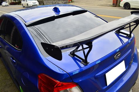 subaru roof spoiler unpainted for subaru wrx sti 4th saloon v style rear roof