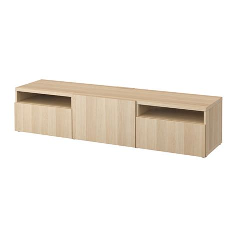 oak tv bench best 197 tv bench lappviken white stained oak effect