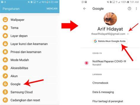 menghapus akun gmail permanen  hp android lengkap