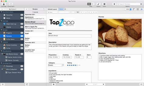 bento database templates migrating from bento to tap forms mac tap forms