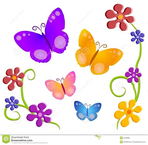 clipart fiori flowers clip butterfly and flowers