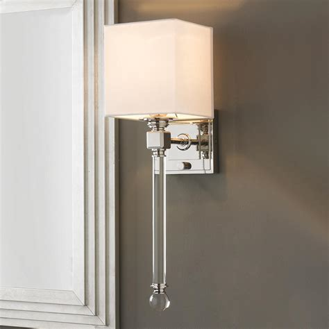 chic sophisticate torch wall sconce crisp white