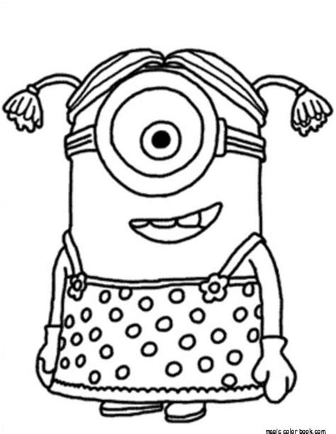 minion girls coloring pages online free printable