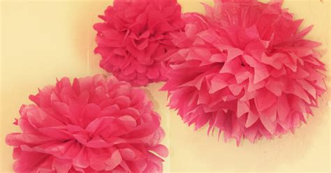 How To Make Tissue Paper Puff Balls - one crafty paper flower puffs