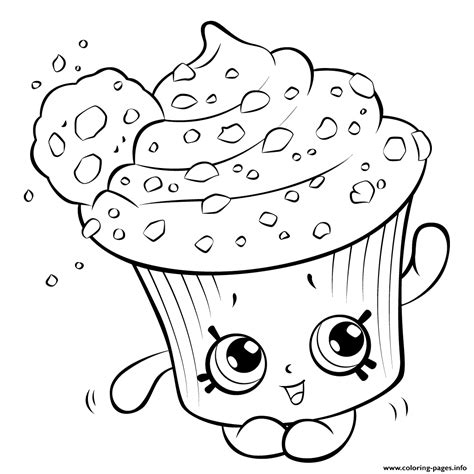 Cupcake For Kids Shopkins Season 5 Coloring Pages Free Printable sketch template