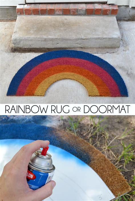 Rainbow Doormat rainbow rug or doormat a bigger