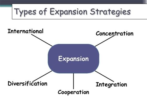 Different Types Of Mba Concentrations by Expansion Strategies The Way To Growth Mini Mba