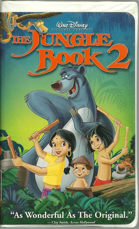 Anthropologie Home Decor by The Jungle Book 2 Vhs Disney Animated Vhs Tapes