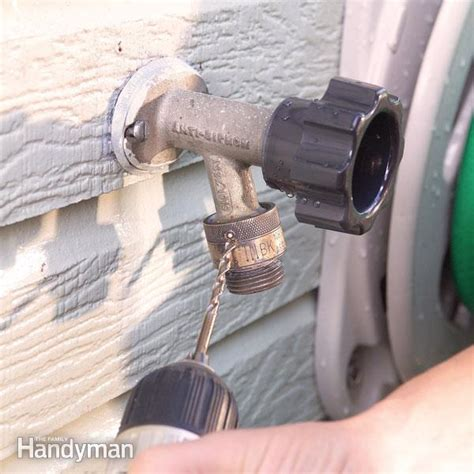 Leaking Hose Faucet by Fix Leaks At The Garden Hose Spigot The Family Handyman