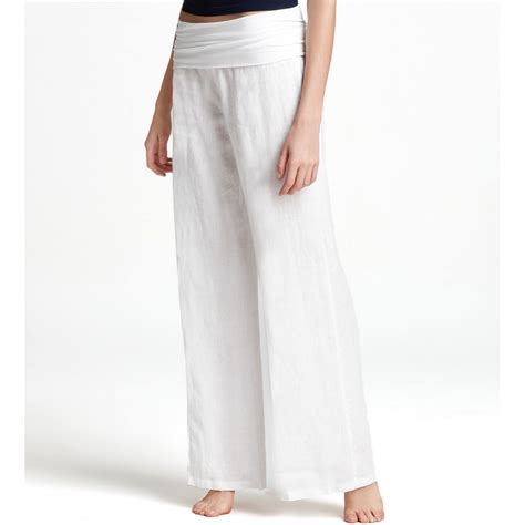 white linen women white linen pants pant so