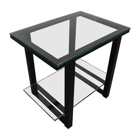 metal barrel side table 66 crate and barrel crate barrelglass and metal