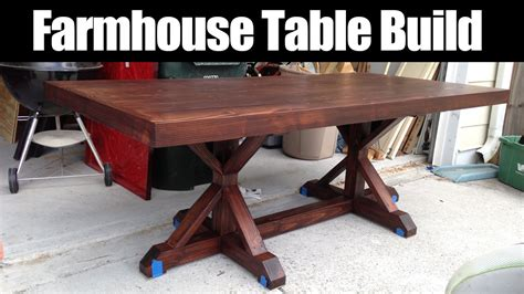 farmhouse table remix how to build a farmhouse table farmhouse table build cmrw 36 youtube