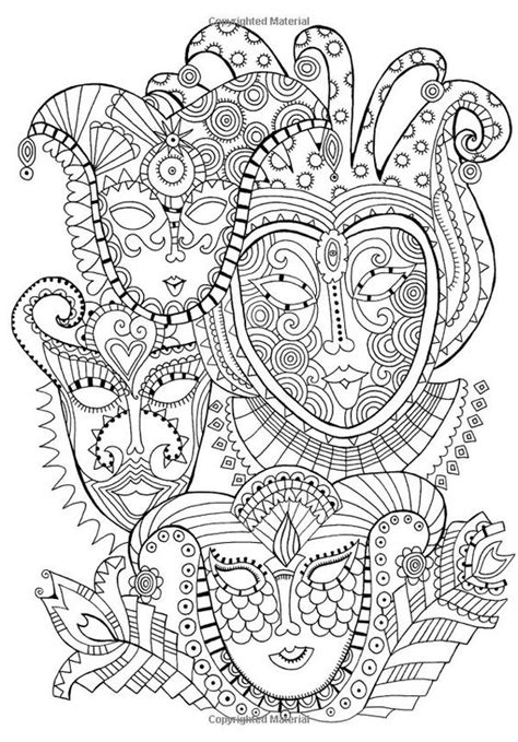 Coloring Pages For Adults Masks | free coloring page coloring mask carnival coloring page