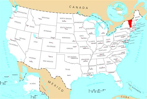map usa vermont vermont usa map