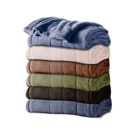 King Size Bed Electric Blanket by Sunbeam Channeled Microplush Electric Heated Blanket