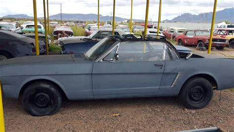 1965 mustang convertible project for sale desert 1965 mustang convertible project