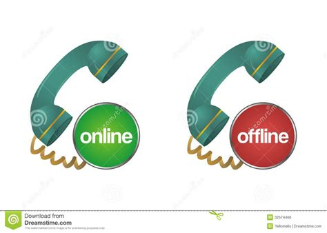 how to doodle for offline use offline chat support help telephone icon stock