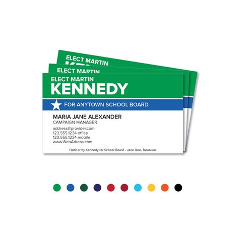Candidate Business Cards