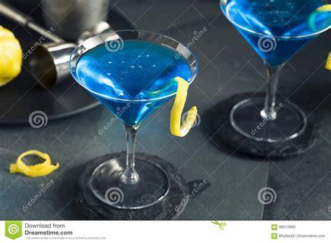martini blue refreshing blue martini cocktail stock photo image 89213999
