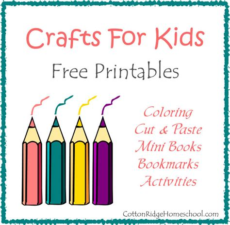 free printable crafts for crafts for coloring mini books bookmarks and
