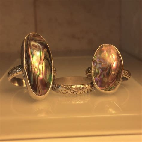 Handmade Rings Etsy - items similar to handmade abalone ring unique handcrafted