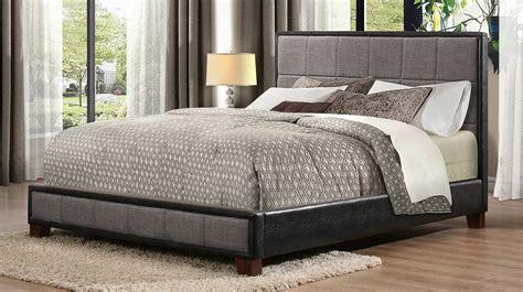 grey upholstered platform bed homelegance quinton upholstered platform bed grey