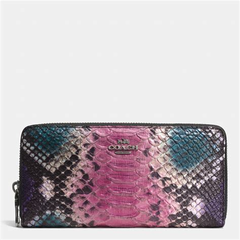 Coach Wallet Embossed Black 1 coach accordion zip wallet in python embossed leather lyst
