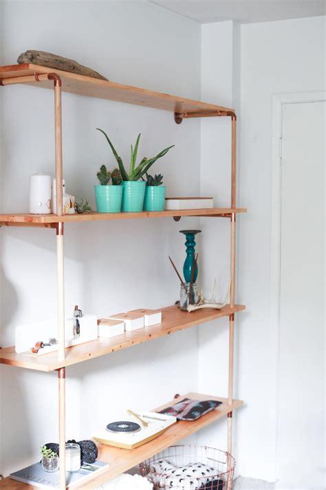 etagere aus holz diy copper wood shelf wood shelf shelves and woods