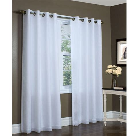 white semi sheer curtains 104 quot x 72 quot extra wide white thermavoile rhapsody semi