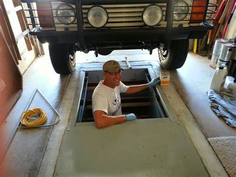 floor storm shelter and garage mechanic pit   Fab