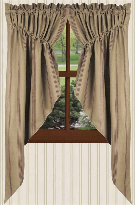 gathered swag curtains new port stripe swag curtains in black