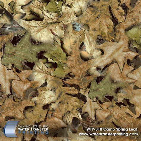 leaf pattern camouflage spring leaf camo hydrographic film wtp 318 twn industries