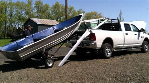 pickup bed boat rack boat loader youtube