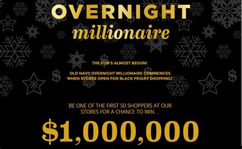 Old Navy Sweepstakes - old navy overnight millionaire sweepstakes win 1 000 000 sweepstakesbible