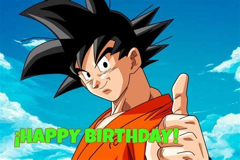 imagenes de goku para cumpleaños imagenes de cumplea 241 os de goku imagenes y tarjetas de