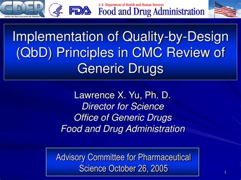 quality by design qbd powerpoint ppt implementation of quality by design qbd principles