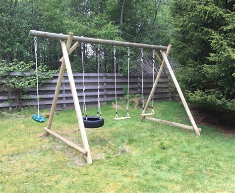 swing extension triple swing frame with extension caledonia play