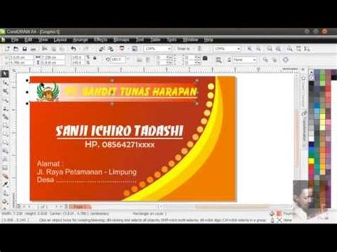 membuat kartu nama dengan corel x5 coreldraw 174 tutorial creating custom lettering effects