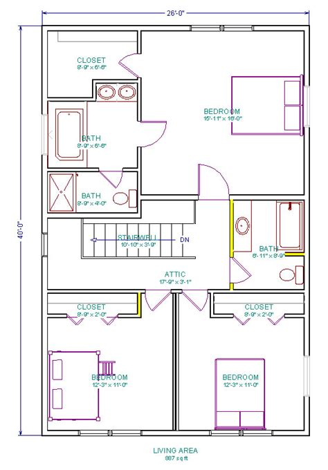 attic floor plan attic renovation 3 bedrooms and 2 baths