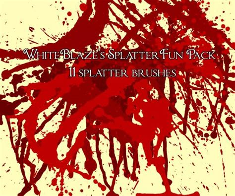 Xpression Brush Set 7062 4 amazing splatter brushes for photoshop