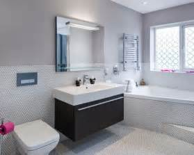 Inspiration for a contemporary bathroom in west midlands with an